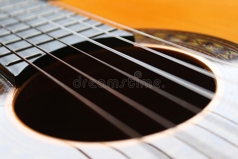 Beautiful classical six strings guitar stock photo