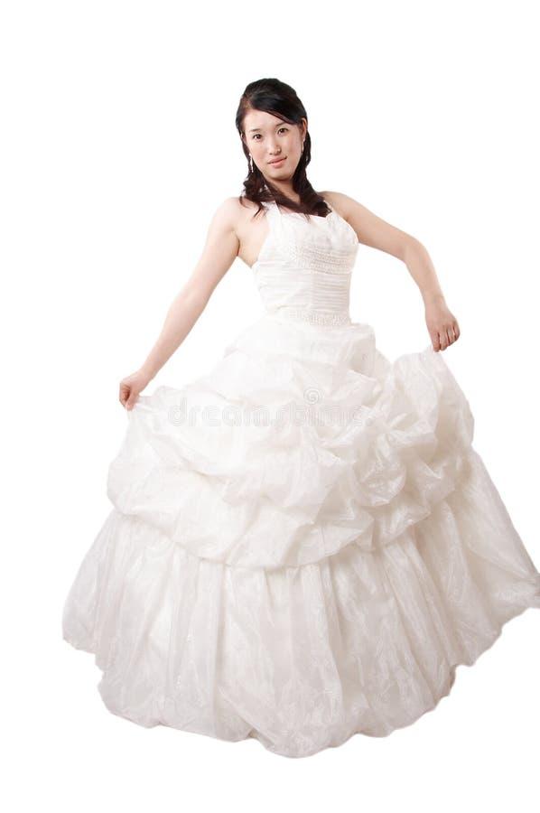 Beautiful classy asian bride royalty free stock photography