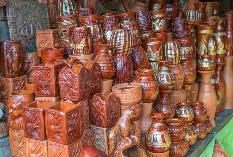 Beautiful Clay pots. stock photos