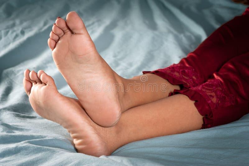 Beautiful clean female feet stock photo