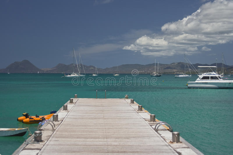 Download Blue seas of the Caribbean stock photo. Image of antilles - 29842052