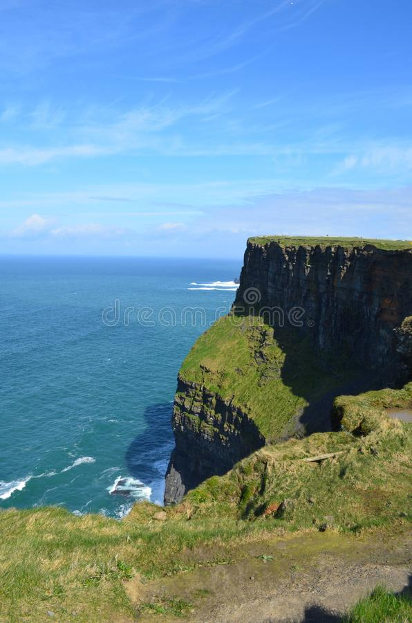 Beautiful, sunny and clear skies in Ireland royalty free stock photography