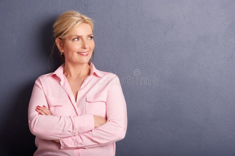 beautiful close dof mature portrait shallow up woman στοκ εικόνες με δικαίωμα ελεύθερης χρήσης