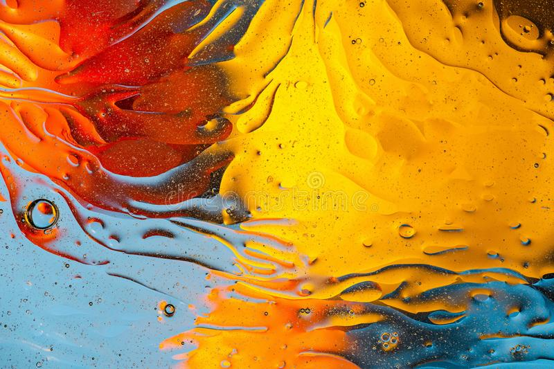 Red, orange, blue, yellow colorful abstract design, texture. Beautiful backgrounds. royalty free stock image