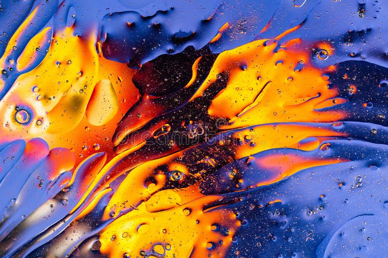 Beautiful close up view red, orange, blue, yellow colorful abstract design, texture. royalty free stock images