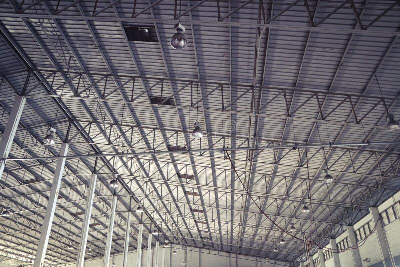 Beautiful closeup metal steel and aluminium frame buildings factory and cargo construction design royalty free stock photos