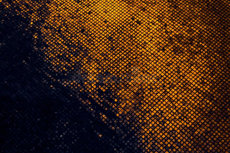Beautiful closeup textures abstract tiles and black gold and yellow color glass pattern wall background and art wallpaper. S stock photos