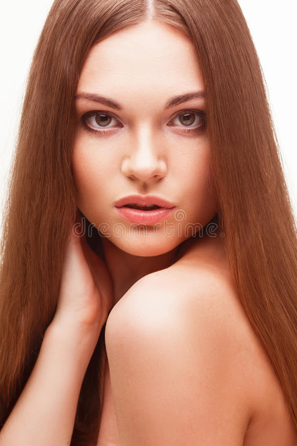 Beautiful Woman With Naked Back Portrait Stock Photo - Image Of Female, Glamor 32712702-1245