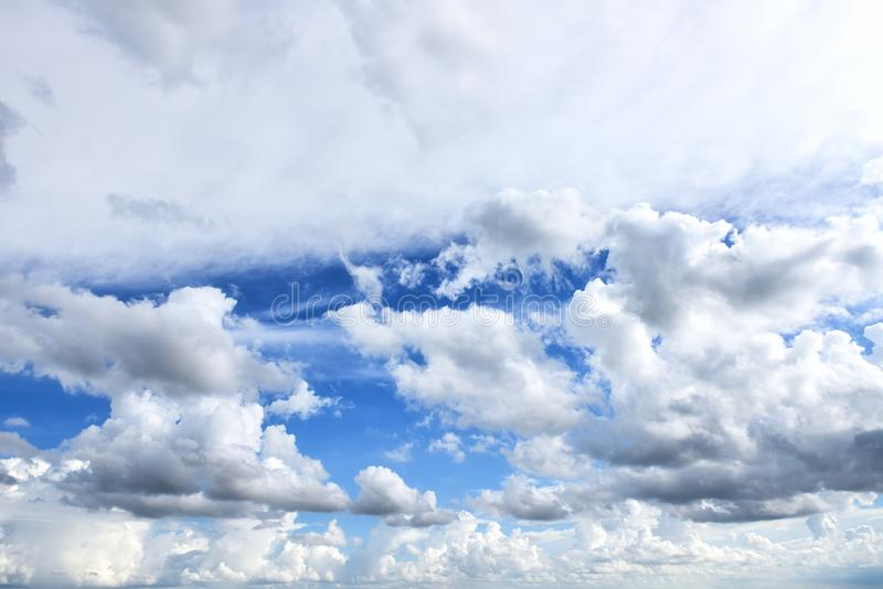 Cloud and blue sky stock photo