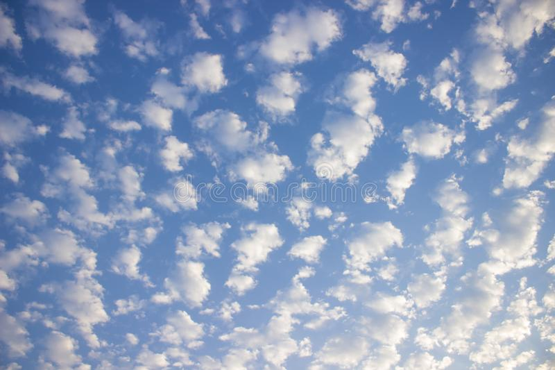 Cloud formation in the blue sky. Beautiful cloud formation phenomenon in the blue sky royalty free stock photography