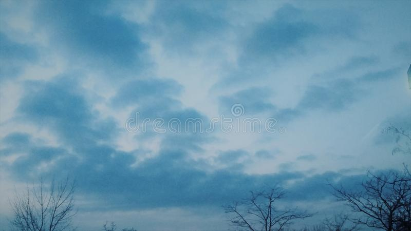 Beautiful cloud forming skyy royalty free stock image