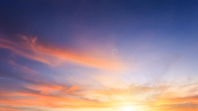 Beautiful cloud over sky at sunset time in Phuket, Thailand. Beautiful cloud over sky at sunset time in Phuket royalty free stock photography