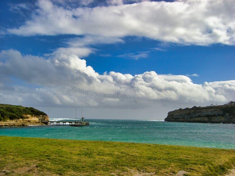 Beautiful cloud sky and coast. At Great Ocean Road, The Twelve Apostles, Australia royalty free stock image