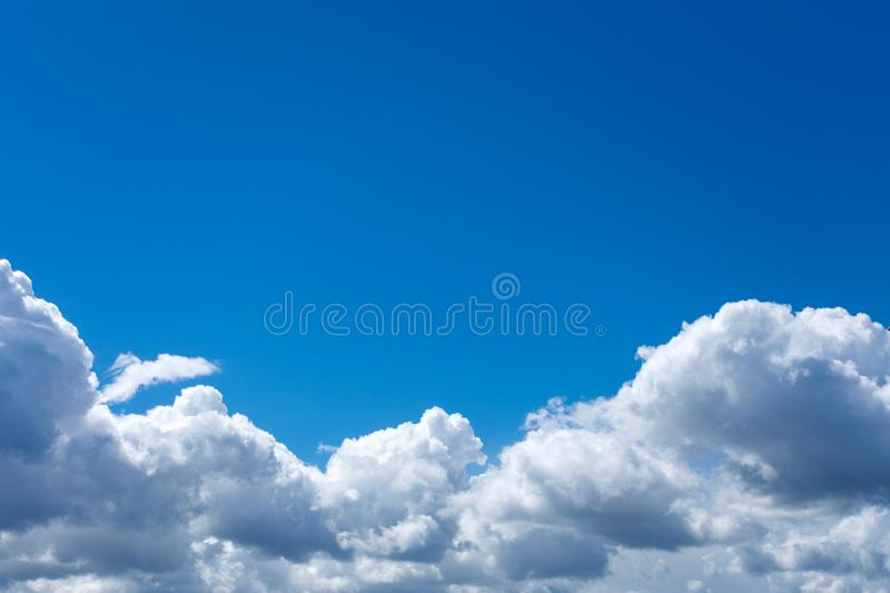 Beautiful cloud sky with copy space. stock photo