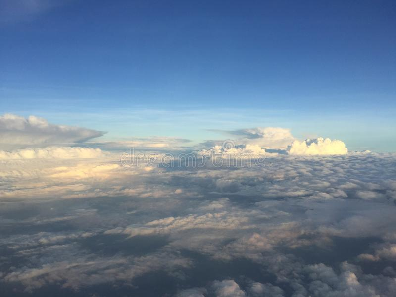 Beautiful cloud and sky. Beautiful white cloud and blue sky royalty free stock photos