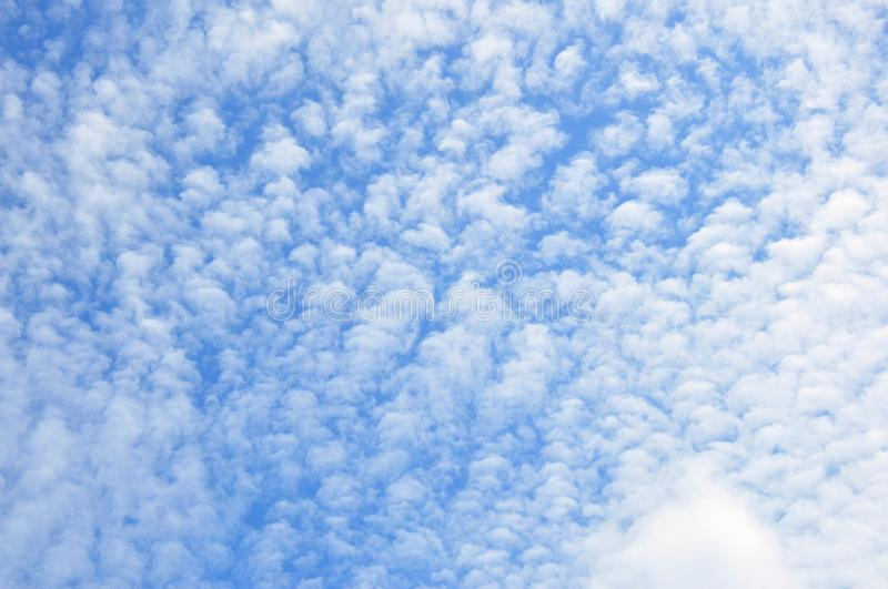Beautiful clouded sky royalty free stock photos