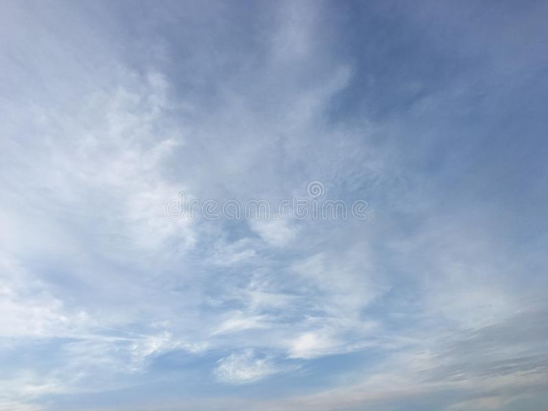 Beautiful clouds against a blue sky background. Cloud sky. Blue sky with cloudy weather, nature cloud. White clouds, blue sky and royalty free stock images
