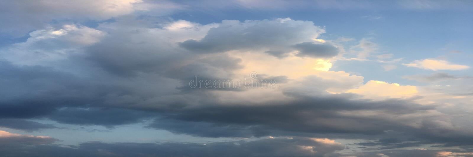 Beautiful clouds against a blue sky background. Cloudscape sky. Blue sky with cloudy weather, nature cloud. White clouds, blue sky royalty free stock images