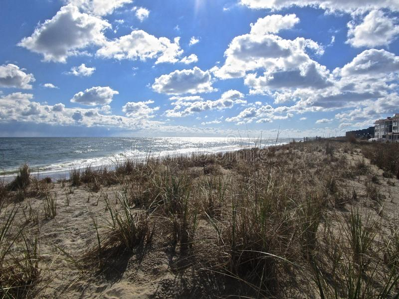 Beautiful Clouds at Bethany Beach stock photo