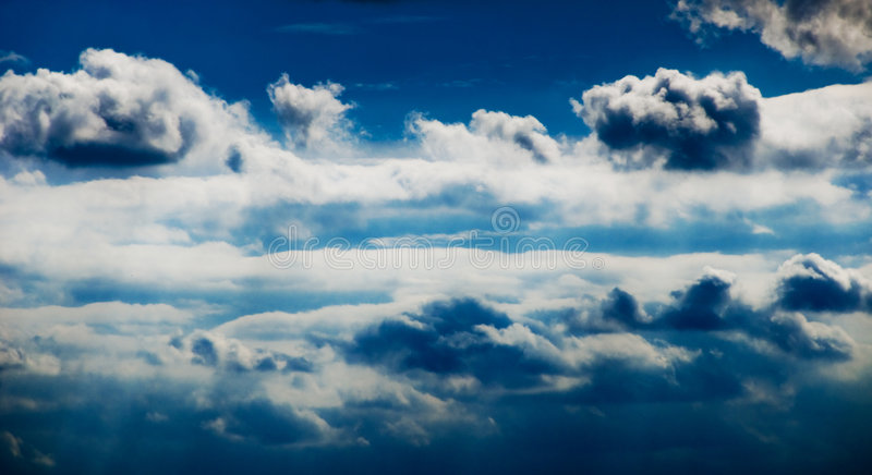 Download Beautiful Clouds On The Blue Sky Stock Image - Image of dark, sunrise: 4864657