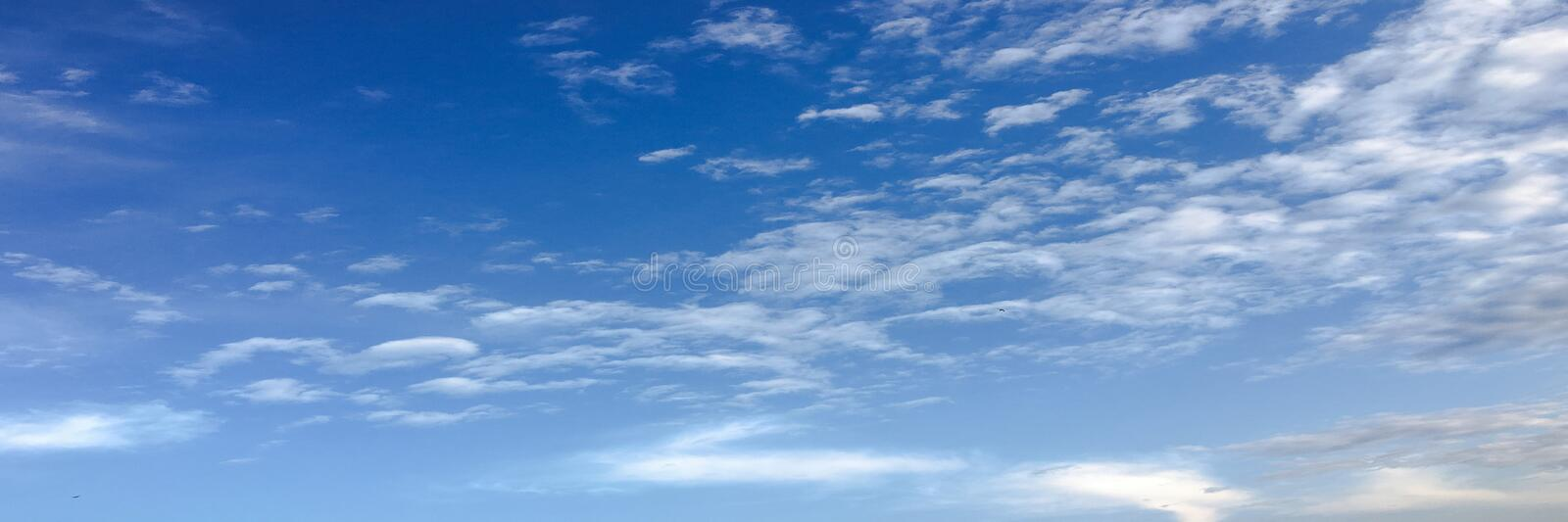 Beautiful clouds with blue sky background. Nature weather, cloud blue sky and sun. stock image