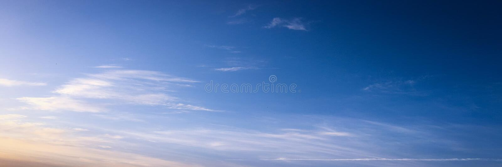 Beautiful clouds with blue sky background. Nature weather, cloud blue sky and sun. stock photography