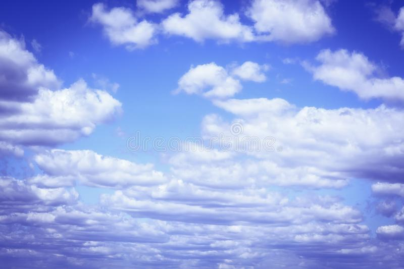 Beautiful clouds with blue sky background. Nature weather, cloud blue sky and sun stock image