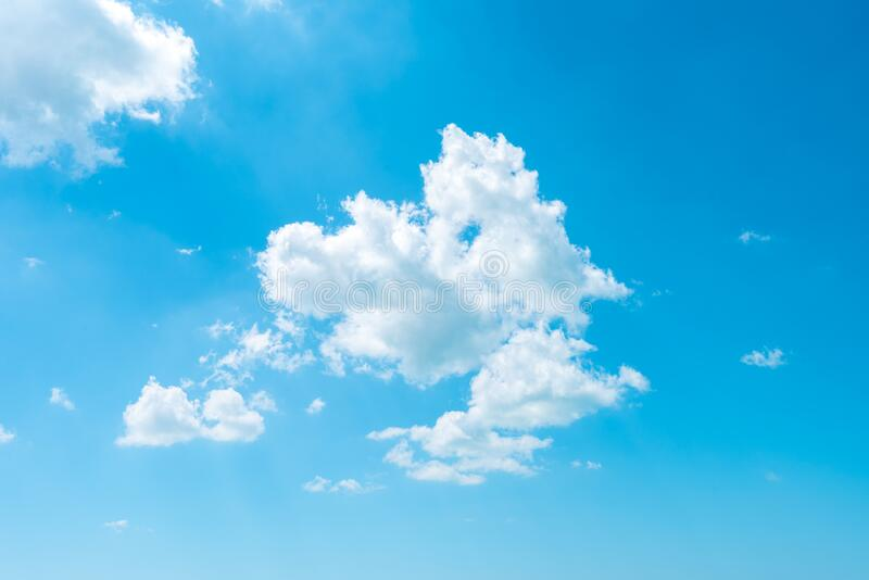 Beautiful clouds on blue sky  background royalty free stock photography