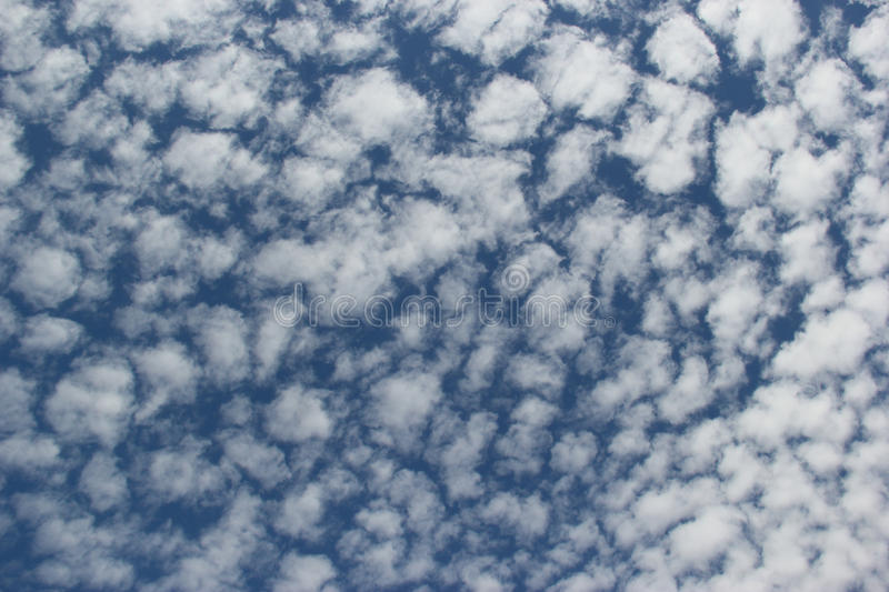 Beautiful Clouds on Bright Blue Sky. Great for Background and Texture Usage royalty free stock image