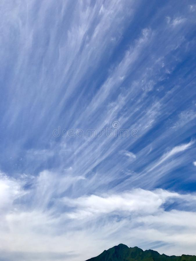 Beautiful clouds on the mountain. S royalty free stock photography