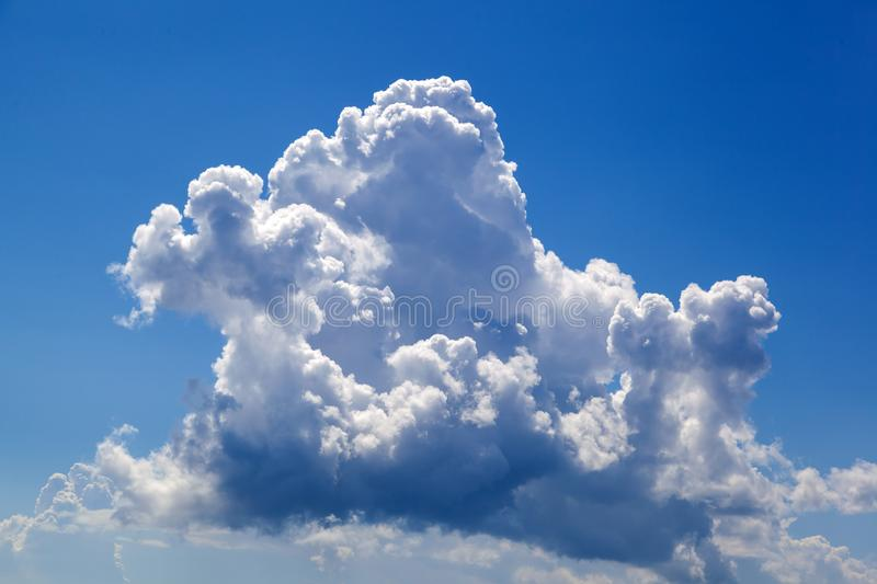 Beautiful clouds over the blue sky stock photos