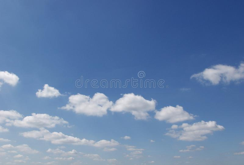Beautiful clouds on the sky stock photography