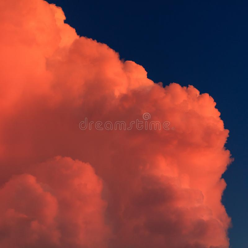 Beautiful clouds in the sky at sunset royalty free stock photography