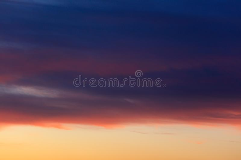 Beautiful clouds at sunset as an abstract background royalty free stock photos