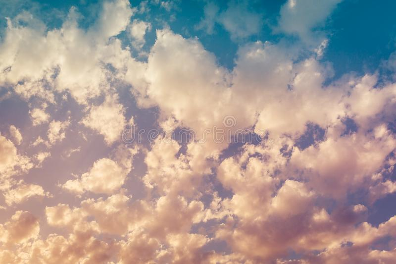 Beautiful clouds at sunset as a background or backdrop royalty free stock photo