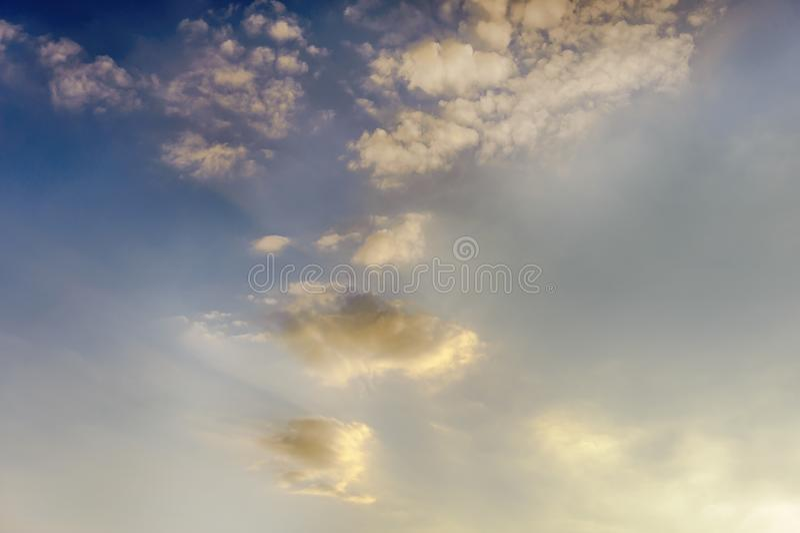 A beautiful clouds during a sunset. Był piękny zachód słońca, chmury są niesamowite stock photo