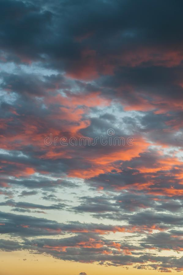 Beautiful cloudscape as the sun rises in the early morning royalty free stock image