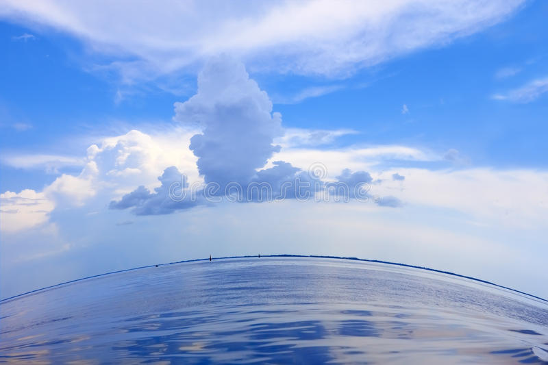 Download Beautiful Cloudscape Over The Sea Stock Image - Image: 24270201
