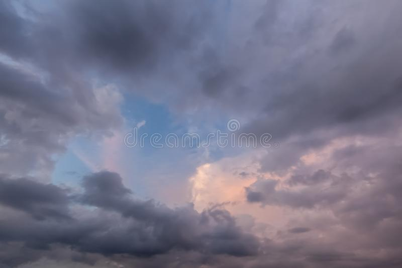 Beautiful cloudscape with pinks and greys 0671 royalty free stock photos