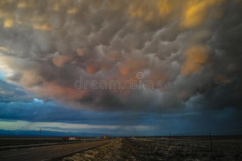 Beautiful cloudscape before the storm royalty free stock photos