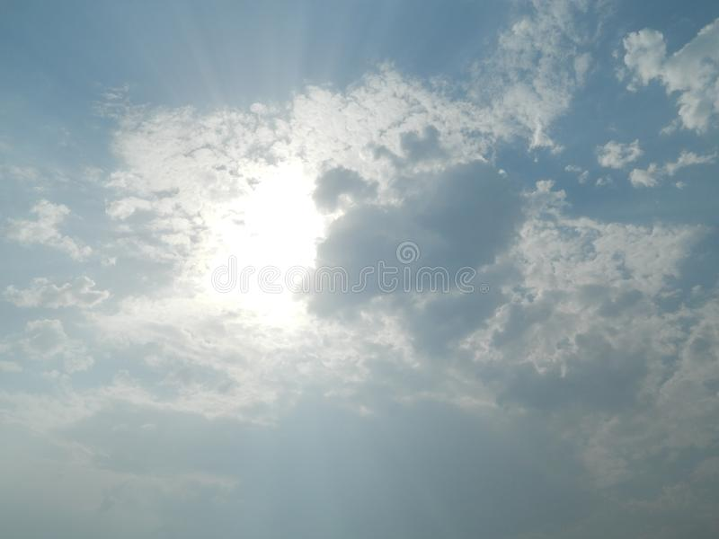 A beautiful Cloudy day  of  India royalty free stock image