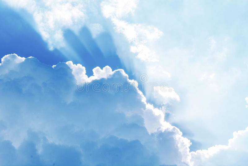 Beautiful cloudy sky stock photography