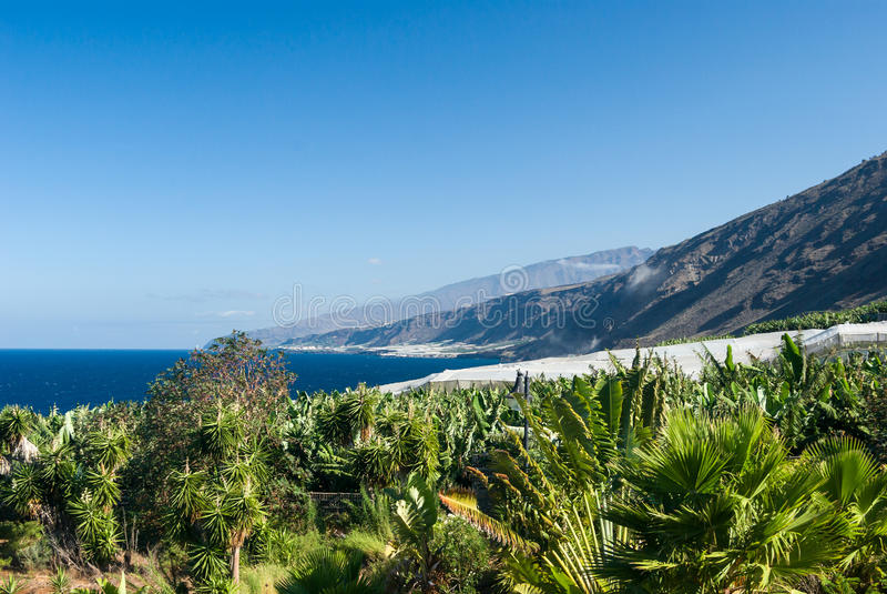 Beautiful coast of La Palma. (Canary Islands) Santa Cruz stock photography