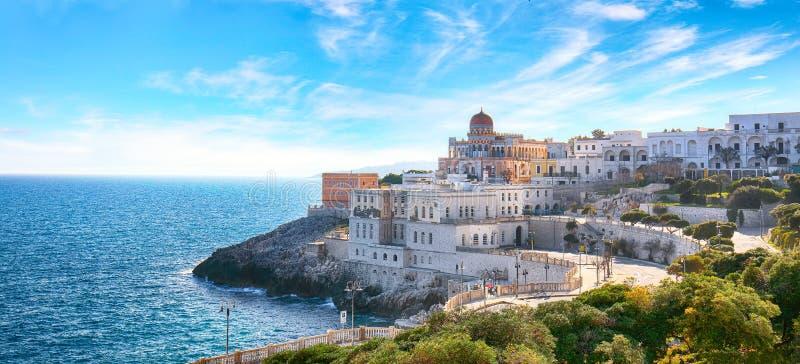 Beautiful coastal town in  Santa Cesarea Terme in Salento region of Italy stock image