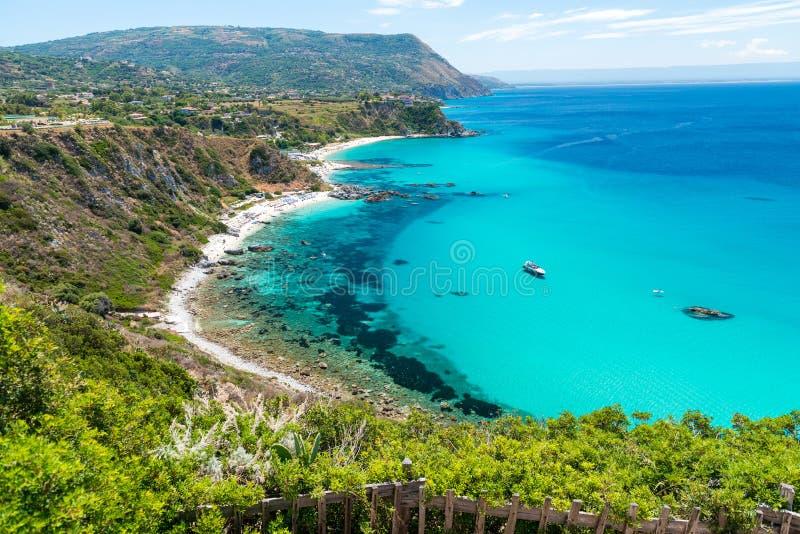 Beautiful coastline of Calabria, Italy. Capo Vaticano.  royalty free stock photo