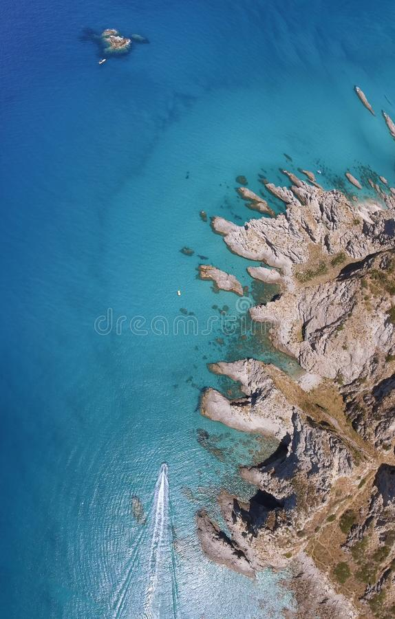Beautiful coastline of Calabria in summer season stock images