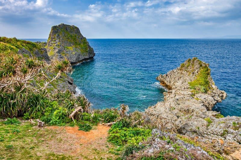 Beautiful coastline of Okinawa island in Japan. Beautiful coastline of Okinawa island, Ryukyu island chain in Japan royalty free stock image