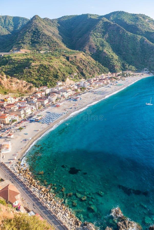 Beautiful coastline of Scilla, Calabria royalty free stock photography