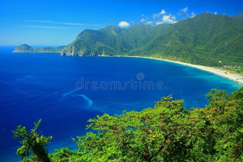 Beautiful Coastline in Yilan, Taiwan.  stock photos