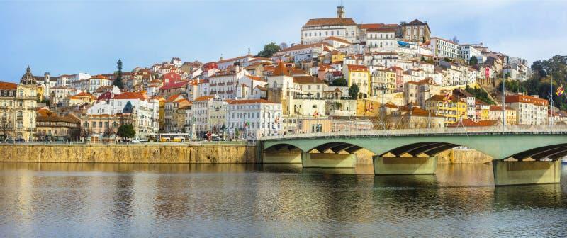 Beautiful Coimbra town, Portugal. Landmarks of Portugal - beautiful Coimbra town stock image